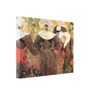 Gauguin - The Dance of 4 Women of Breton Canvas Print