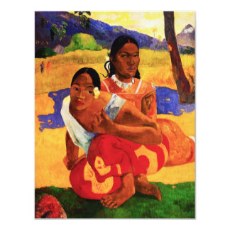 """Gauguin When Are You Getting Married Invitations 4.25"""" X 5.5"""" Invitation Card"""