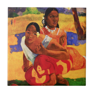 Gauguin When Are You Getting Married Tile