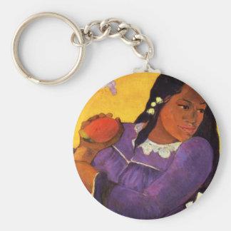 Gauguin Woman With A Mango Key Chain