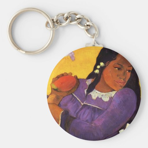Gauguin Woman With A Mango Key Chain