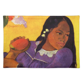 Gauguin Woman With A Mango Placemat