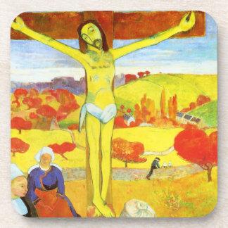 Gauguin Yellow Christ Coasters