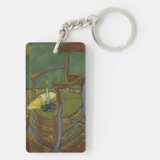 Gauguin's chair Double-Sided rectangular acrylic keychain