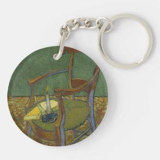 Gauguin's chair Double-Sided round acrylic keychain