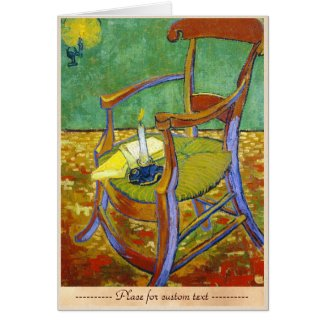 Gauguin's Chair vincent van gogh painting Card