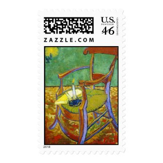 Gauguin's Chair vincent van gogh painting Postage Stamps