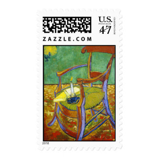 Gauguin's Chair vincent van gogh painting Stamp
