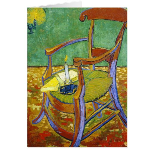 Gauguin's Chair vincent van gogh painting Stationery Note Card