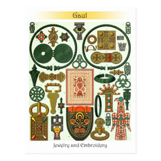Gaul - Jewelry and  Embroidery Postcard