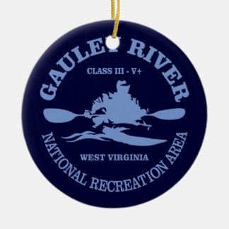 Gauley River Ceramic Ornament