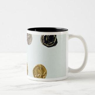 Gaulish coins, c.750-0 BC Two-Tone Coffee Mug