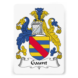 Gaunt Family Crest Card