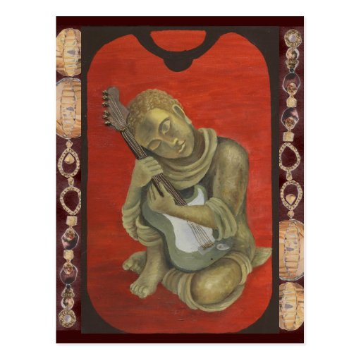 Gautama and his Guitar Postcard