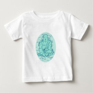 Gautama Buddha Lotus Pose Drawing Baby T-Shirt