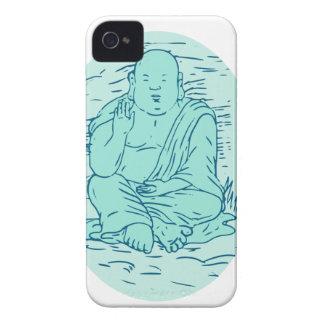 Gautama Buddha Lotus Pose Drawing iPhone 4 Case