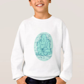 Gautama Buddha Lotus Pose Drawing Sweatshirt