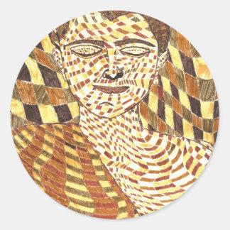 gautama Buddha psychedelic Classic Round Sticker