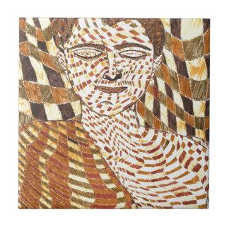 gautama Buddha psychedelic Ceramic Tile