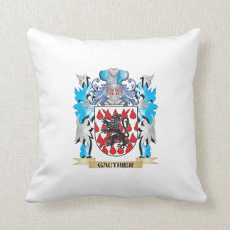 Gauthier Coat of Arms - Family Crest Throw Pillow