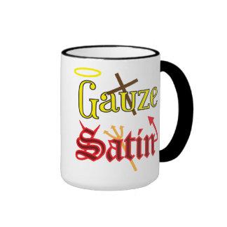 Gauze AND Satin Ringer Coffee Mug