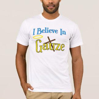 Gauze and Satin T-Shirt