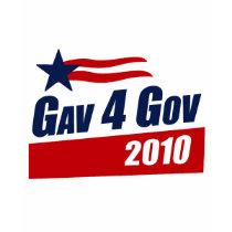 Gav for Gov 2010 t-shirts