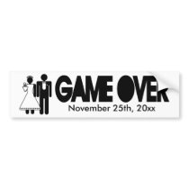 Gave Over - Add your own text Bumper Sticker