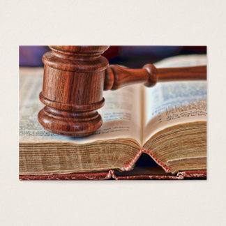 Gavel and Bible business card