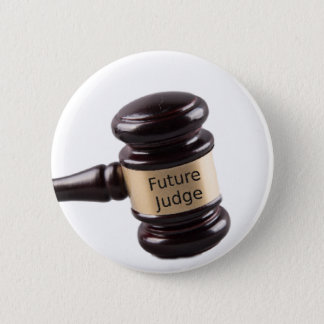 Gavel Design For Aspiring Judges And Lawyers Button