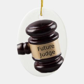 Gavel Design For Aspiring Judges And Lawyers Ceramic Ornament