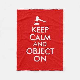 Gavel Fleece Blanket Keep Calm and Lawyer Saying