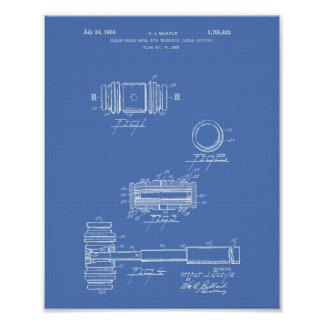 Gavel of Justice 1956 Patent Art - Blueprint Poster