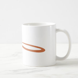 Gavel Representing a Judge in Swish Drawing Style Classic White Coffee Mug