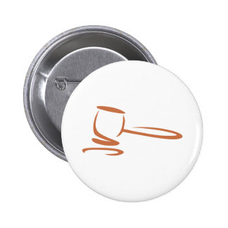 Gavel Representing a Judge in Swish Drawing Style Pinback Button