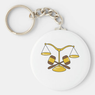 GAVELS AND SCALES KEYCHAIN