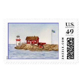 Gaveskar Lighthouse Stamp
