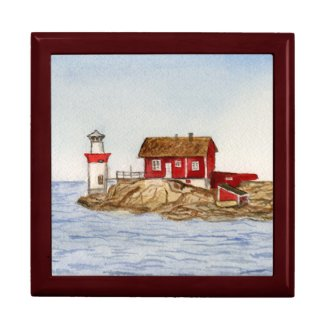 Gaveskar, Sweden Lighthouse Jewelry Art Gift Box