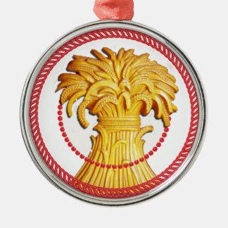 Gavilla de Jesse del ornamento #1 del trigo Adorno Redondo Plateado