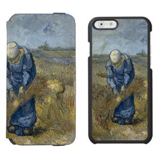 Gavillas obligatorias de la mujer campesina de funda billetera para iPhone 6 watson