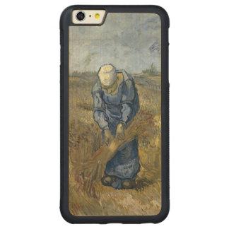 Gavillas obligatorias de la mujer campesina de Van Funda Para iPhone 6 Plus De Carved® De Nogal