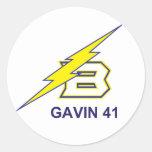GAVIN 41 ROUND STICKER