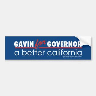 Gavin for Governor Car Bumper Sticker