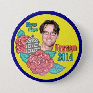 Gavin Newsom for California Governor in 2014 Button