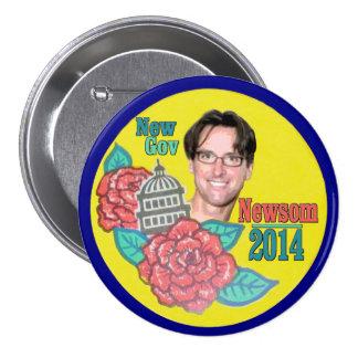 Gavin Newsom for California Governor in 2014 Pin