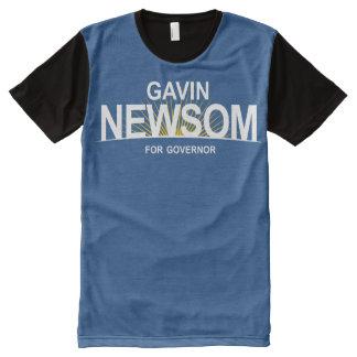Gavin Newsom for Governor All-Over-Print T-Shirt