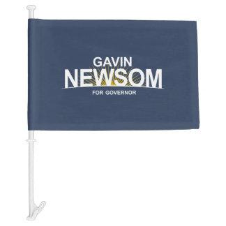 Gavin Newsom for Governor Car Flag