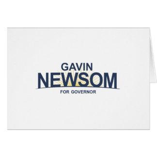 Gavin Newsom for Governor Card
