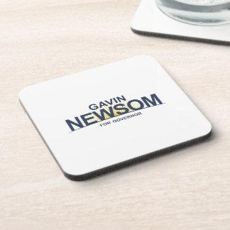 Gavin Newsom for Governor Drink Coaster