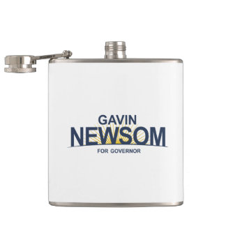 Gavin Newsom for Governor Hip Flask